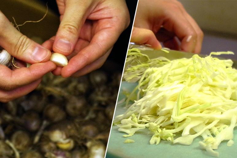 自家製栽培の野菜とニンニクがおいしさの秘密!