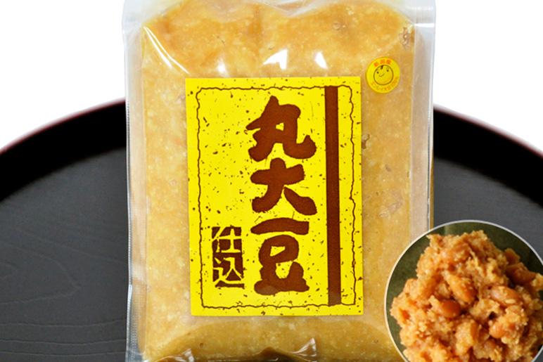 糀10割の豊かな甘み、県産100%大豆の『丸大豆仕込み』