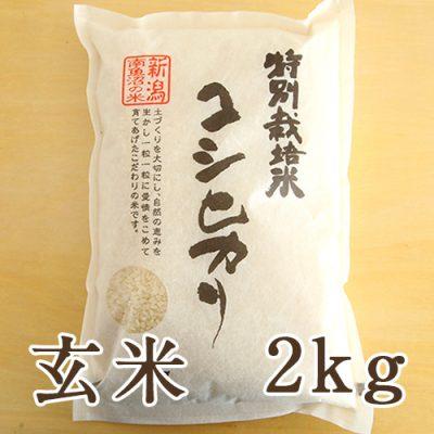 南魚沼産 コシヒカリ(特別栽培米) 玄米2kg