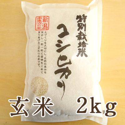 【定期購入】南魚沼産 コシヒカリ(特別栽培米) 玄米2kg
