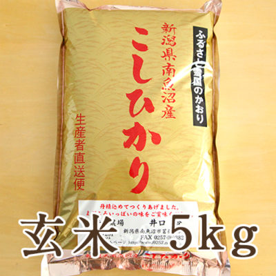 【定期購入】南魚沼産 コシヒカリ(特別栽培米) 玄米5kg
