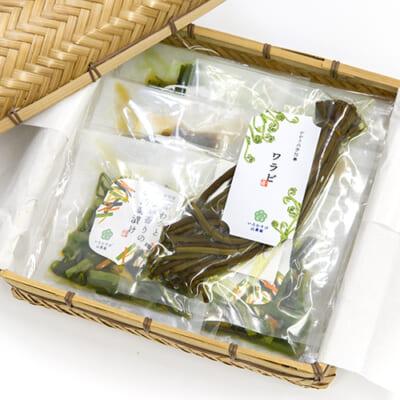 いろむすび山菜ギフト 4種7袋(竹籠入)