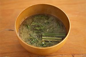 1.ワラビの味噌汁