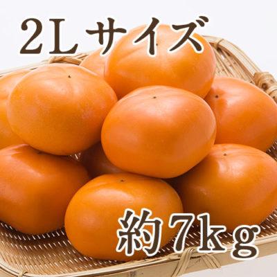 おけさ柿 赤秀 2Lサイズ 約7kg(32玉入り)