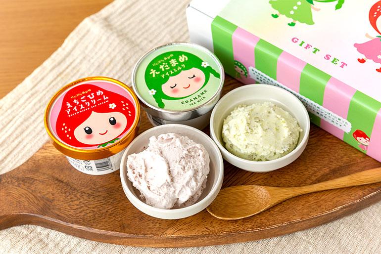 枝豆と越後姫の果肉たっぷり!贅沢なアイス