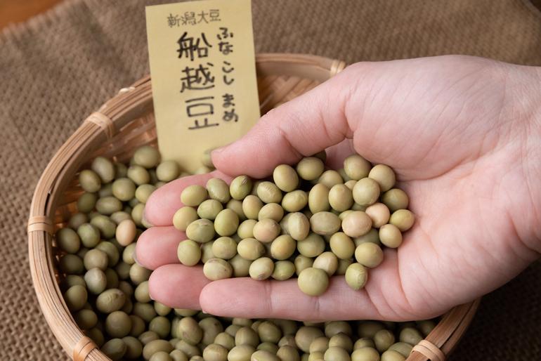おいしさの秘密は契約農家から仕入れる「船越豆」