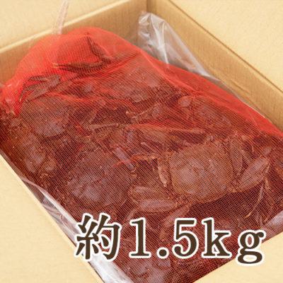 天然活きモクズガニ 規格外 約1.5kg