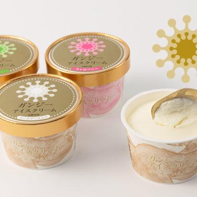 加勢牧場がお届けする、ガンジー牛乳を使用したアイスクリームセット!