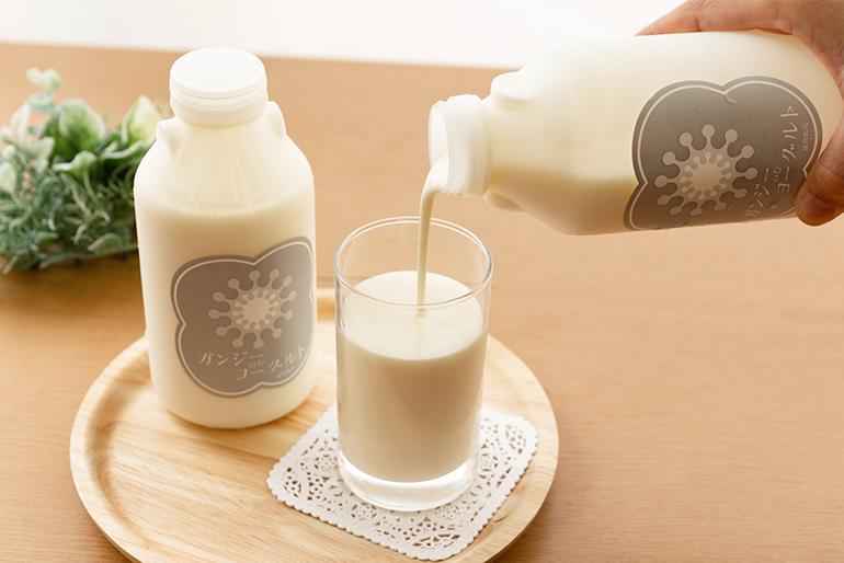 世界的にも希少な牛乳から作ったのむヨーグルト