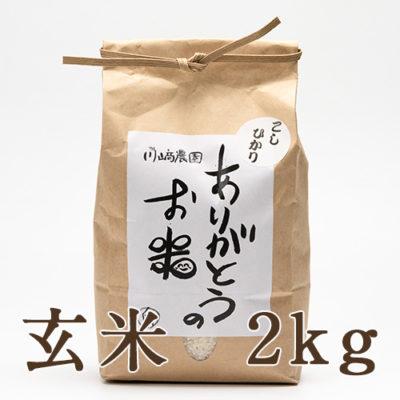 自然栽培米コシヒカリ 玄米2kg