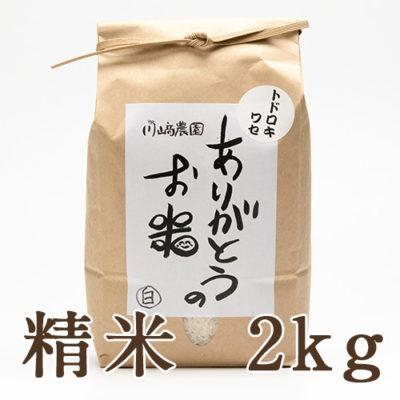 自然栽培米トドロキワセ 精米2kg