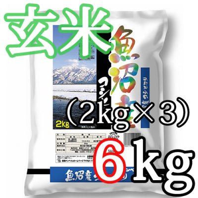 魚沼産コシヒカリ 玄米6kg