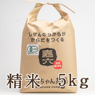 自然栽培米ササニシキ(JAS有機認証米) 精米5kg