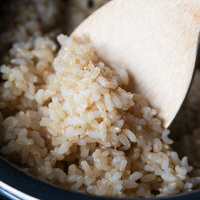 自然栽培米の玄米は食べやすいんです