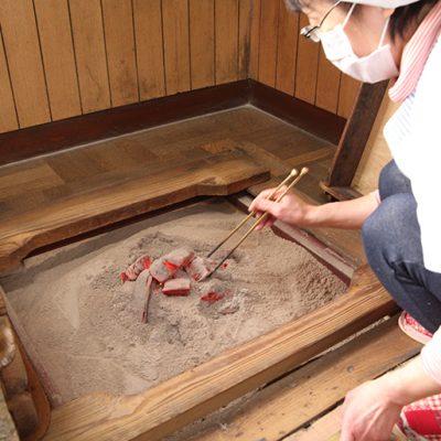 炭火で発酵