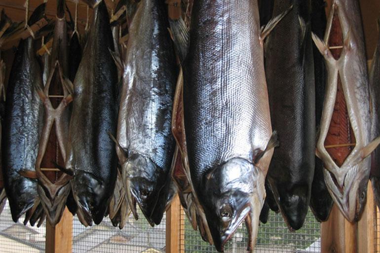 「寒風干し」により、鮭の旨味を凝縮