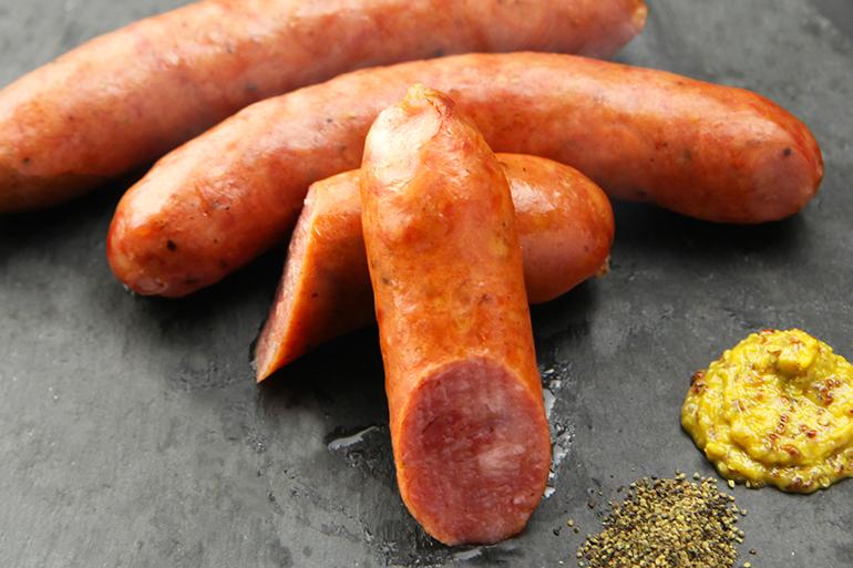 2.粗挽き肉のソーセージ