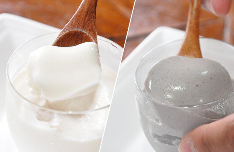 すっきり極旨「和」のスイーツ、『豆乳(ごま)プリン』!