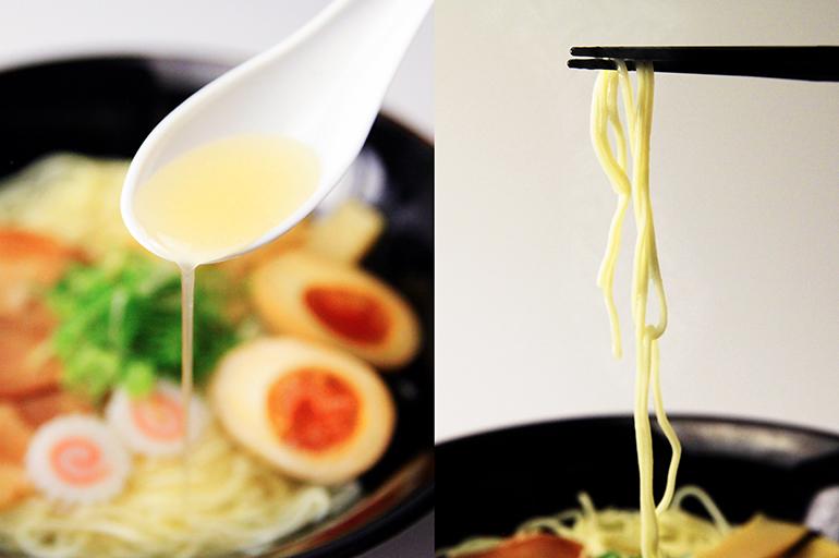 黄金のにぼしスープと自家製の細麺は相性抜群