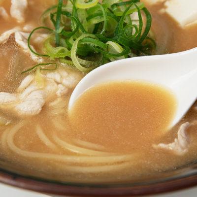 ほっこりする味の味噌スープ
