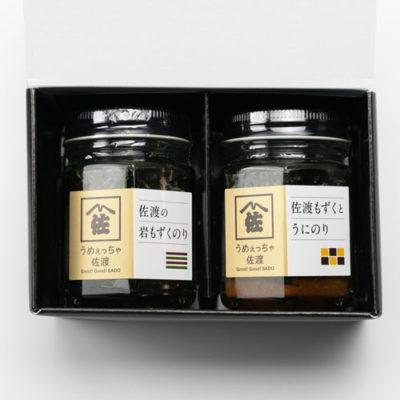日本海の味瓶詰め 岩もずくのり・うにのり 各1本入