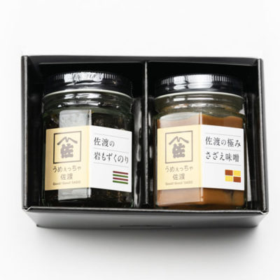 日本海の味瓶詰め 岩もずくのり・さざえ味噌 各1本入