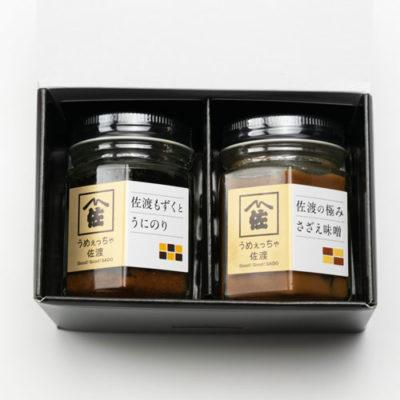 日本海の味瓶詰め うにのり・さざえ味噌 各1本入