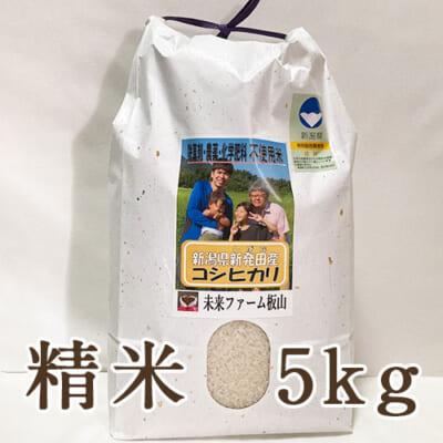 新潟産 従来品種コシヒカリ(特別栽培)精米5kg
