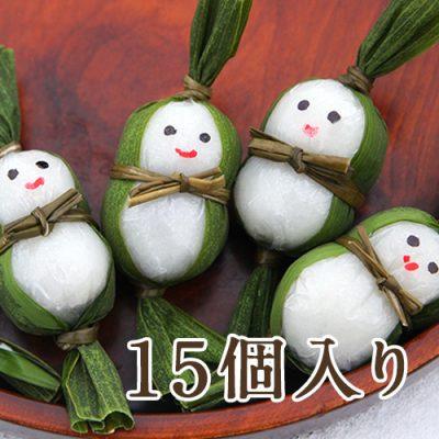 笹雪だるま(つぶあん)15個入り