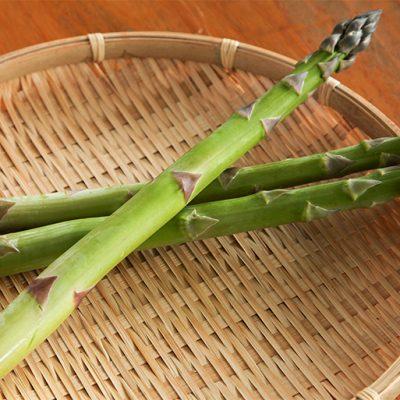 春(4月下旬〜6月)太く穂先から根元まで濃い甘みが特徴