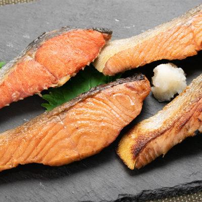 酒粕・味噌・甘塩・塩で漬け込んだ4種類の鮭