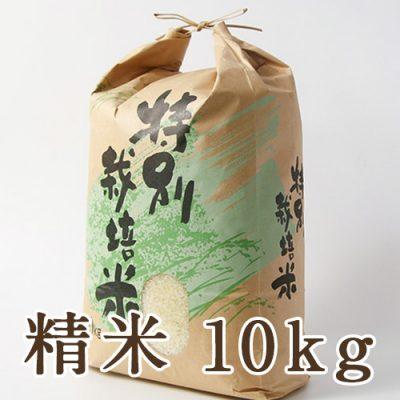 新発田市菅谷産コシヒカリ(特別栽培米)精米10kg