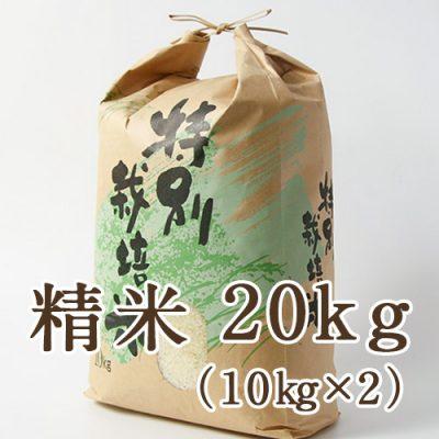 新発田市菅谷産コシヒカリ(特別栽培米)精米20kg
