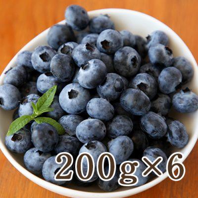 国産 生食用ブルーベリー 200g×6パック