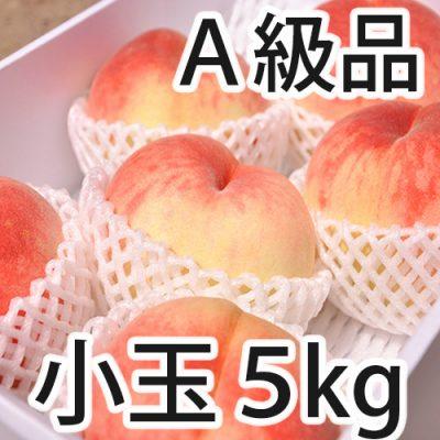 桃 A級品 5kg(小玉 18~22玉)