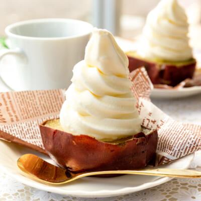 焼き芋ソフトクリーム「イモぽんソフト」