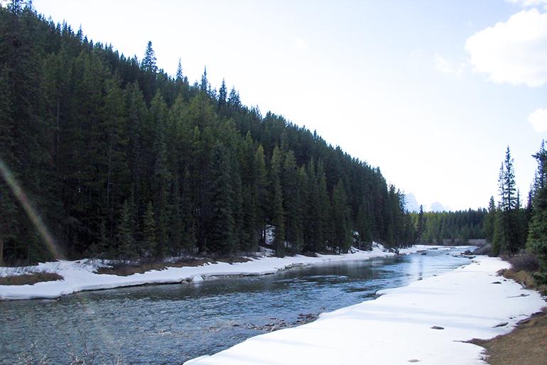2.豊富な雪解け水