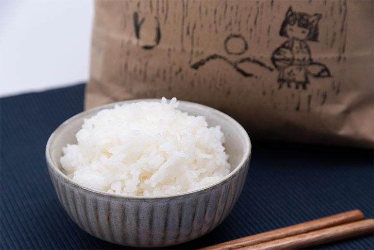 魚沼の豊かな自然の中で大きく実った美味しいお米