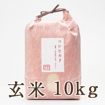 魚沼産 自然栽培 はざかけ米 コシヒカリ 玄米10kg