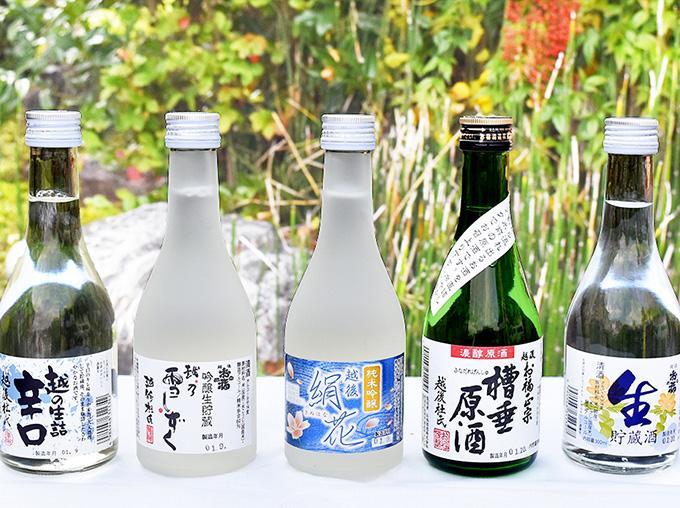 越後 お福正宗 オリジナル酒5本飲み比べセット
