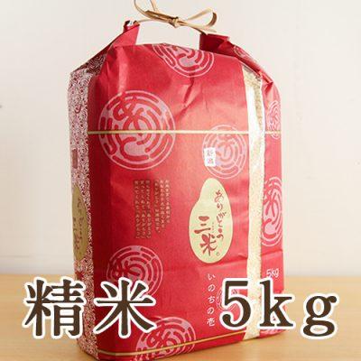 新潟産 いのちの壱「ありがとう三米」 精米5kg