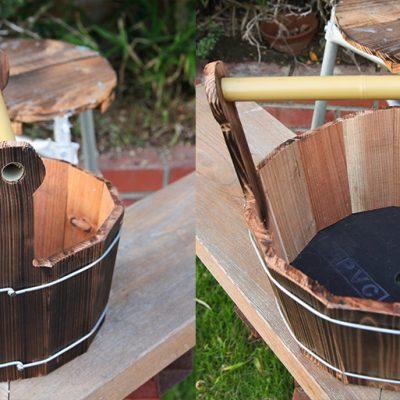 焼杉木製プランター ハーブ栽培セット