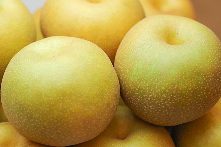 肥沃な土壌で育った梨はより深い味に