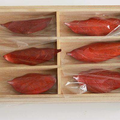 木の葉の箸置き 大小ペア3種セット ※桐箱入り