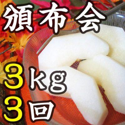 【頒布会】利兵衛の梨 3kg×3回