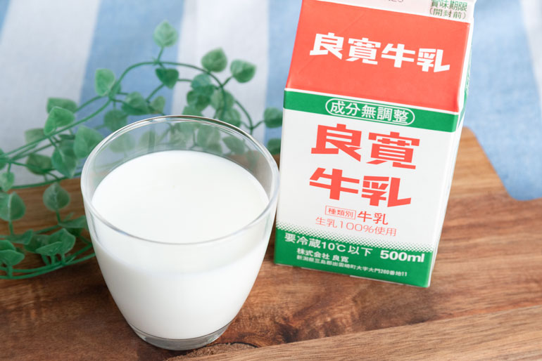 「良寛和尚」生誕の地で生まれた牛乳