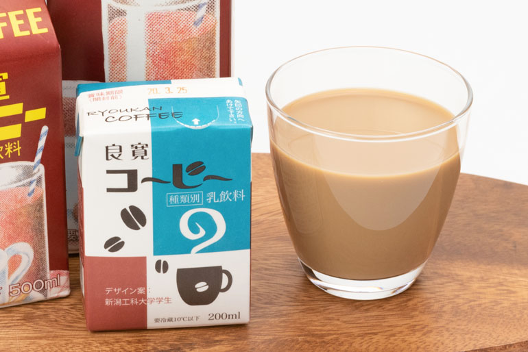 良寛コーヒーのパッケージは新潟工科大学の学生が考案♪