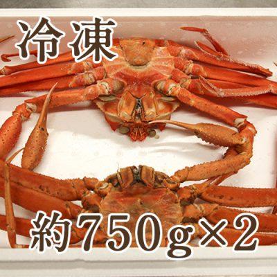 【冷凍】紅ズワイガニ 約750g×2尾