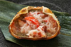 3.カニ味噌甲羅焼き