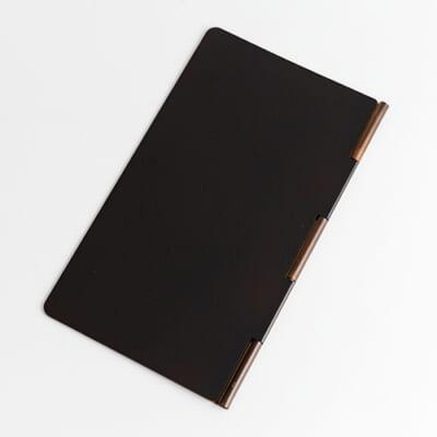 手帳型銅製マスクケース ダークブラウン